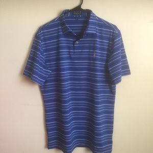 Peter Millar Golf Crown Crafted M Blue Polo Shirt
